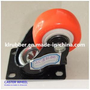Color PU Caster Wheel for Trolley Wheel pictures & photos