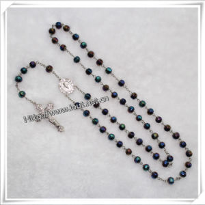 Face Cutting Glass Beads Catholic Rosary with Cross (IO-cr050) pictures & photos