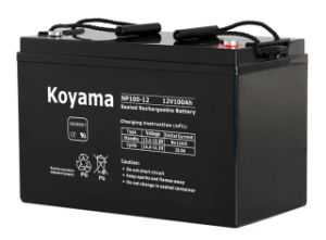 High Quality AGM Industry Solar Energy Storage Battery UPS Battery 100ah 12V pictures & photos