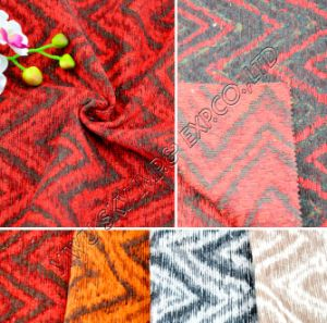 100% Polyester Jacquard Chenille Sofa Fabric 148-150cm Width pictures & photos