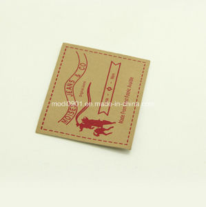 Leather Badge for Jean [Leather Material, Microfiber Suede Leather] Tannery Wholesale Leather Label Patch pictures & photos