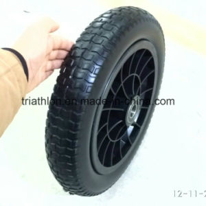 16X4.00-8 Wheelbarrow Foam Tire and Steel Wheel pictures & photos