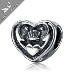 925 Silver Bead Love and Crown Jewelry Silver Beads Item