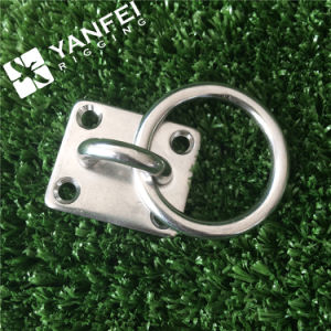 Stainless Steel Diamond Square Pad Eye with Ring pictures & photos