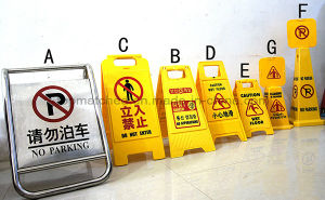 Stainless Steel Luxury Floor Standing Billboard Warning Traffic Sign pictures & photos