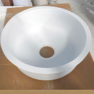 China small round resin stone solid surface undermount for Solid surface kitchen sink