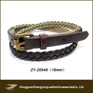 Fasion PU Braided Belt for Lady