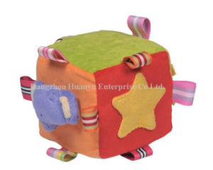 Factory Supply Stuffed Plush Rattle Block Toy pictures & photos