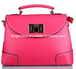 Best Selling High Quality Pink PU Fashion Ladies Handbag (KCH80-04) pictures & photos