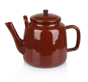 3.5L Coffee African Teapot with Black Knob pictures & photos