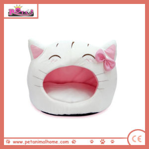 Cartoon Lovely Cat Pet Bed in White pictures & photos