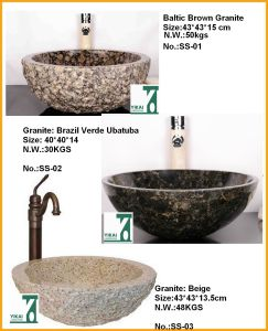 Round Bowl Artificial Sink Stone Basin, Use to Bathroom (YKSS-01)