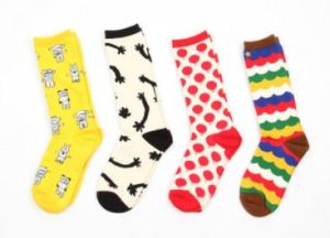 Fashion Cotton Knee High Jacquard Sock pictures & photos