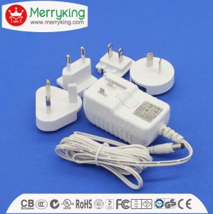 15W Series Interchangeable Universal 15V1a AC/DC Adapter with Us EU Au UK Jp Cn Plug pictures & photos