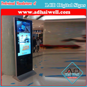 Slim WiFi Hotel 42 Inch Floor Standing Digital Advertising Screen LCD Display pictures & photos