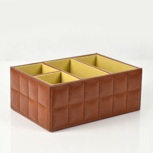Brown Faux Leather Desktop Organizer pictures & photos