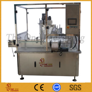 Automatic Rotary Powder Filler Stopper and Capper Packaging Line pictures & photos