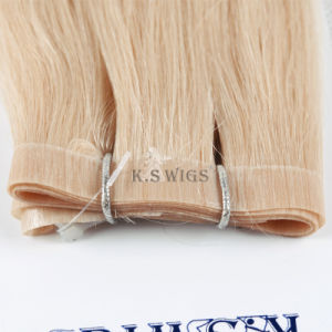 Virgin Remy Indian Human Hair Extension Skin Hair Weft pictures & photos
