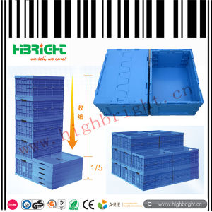 Stackable Plastic Moving Crate Plastic Storage Tote Bin pictures & photos