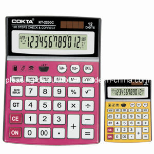 Check & Correct Calculator, Dual Power Office Calculator (KT-2200C)