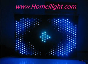 P18 4m*6m RGB3in1 Color, LED Vision Curtain, LED Video Cloth, DJ Backdrops for Wedding, Stage pictures & photos