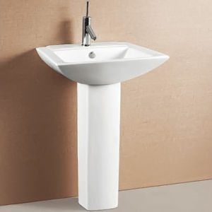 Sanitary Ware Pedestal with Basin for Bathroom (ON-502) Ceranics