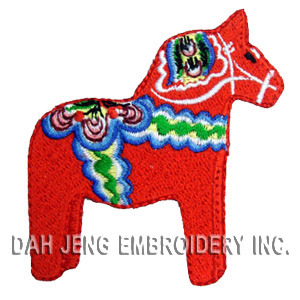 Dalecarlian Horse Embroidered Patch pictures & photos
