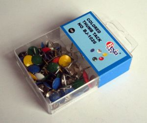 Colored Thumb Tack 100PCS Pack in One PVC Box (BJ-1026) pictures & photos