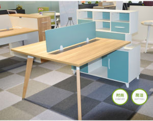 Office Furniture Wooden Office Desk with Shelf pictures & photos