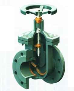 Non Rising Stem Solid Wedge Gate Valve pictures & photos