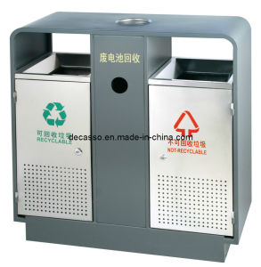 Outdoor Recycling Dustbin with Ashtray (DL80) pictures & photos