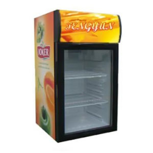 55L Refrigerated Display Cabinet Food Drink Display Cooler Sc-55h pictures & photos