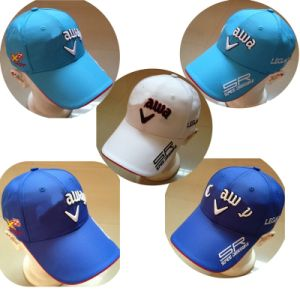 OEM 2014 New Golf Cap with Embroidery, Outdoor Summer Navy Blue Cap Adjustable (CA 8142) pictures & photos