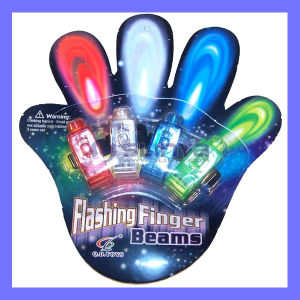 Smart Intelligent Night Party Novelty Light Color LED Finger Flashlight Torch pictures & photos