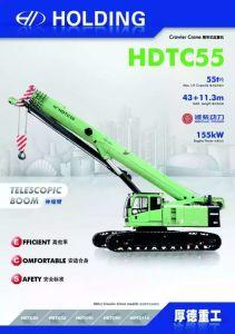 55 Ton Telescopic Boom Crawler Crane