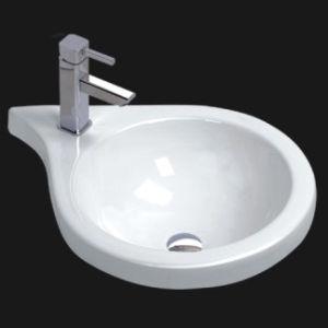 Unique Porcelain Bathroom Vessel Sink (6087 & 6088)