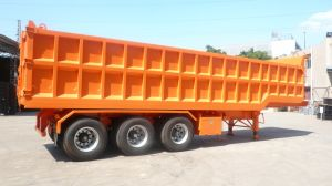 31cbm 3 Axles U-Shape Tipper Semi Trailer pictures & photos