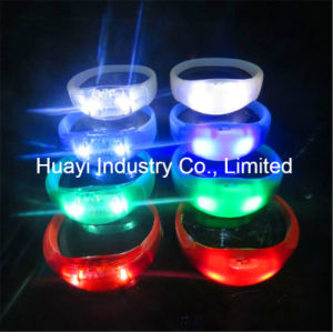 Sound Activated LED Color Changing Wristband pictures & photos