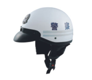 Summer Police Helmet for Motorcycle pictures & photos