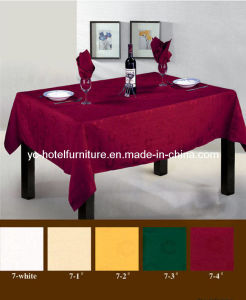 Dark Red Comfortable Table Cloth (FCX-538) pictures & photos