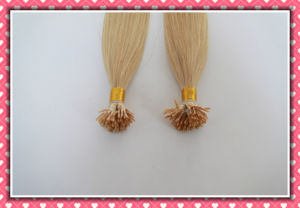 European Remy Blonde Flat Tip Human Hair Extension pictures & photos