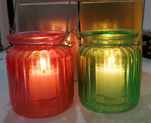 High Quality Decorative Solid Wax Glass Candle