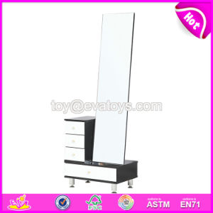 Wholesale Modern Wooden Stand up Big Mirrors with Cabinet W08h087 pictures & photos