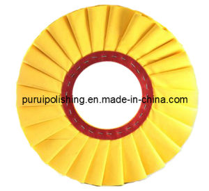 Yellow Pleated Airway Cotton Buffing Polishing Wheel for Metal pictures & photos