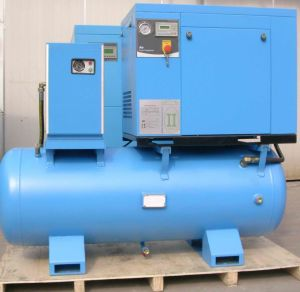 10HP Screw Compressor with Dry, Big Tank 8bar 150psi-10bar pictures & photos