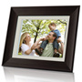 "8"" Digital Photo Frame with Multimedia Playback and 1GB Built-in Memory"