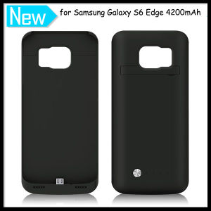 Portable 4200mAh External Backup Battery Cover for Galaxy S6 Edge pictures & photos