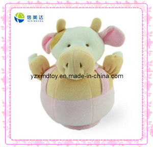 Funny Pink Round Bull Plush Baby Toys (XMD-0019C) pictures & photos