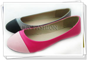 Fashion Patchwork Toecap Flat Women and Girl Shoes (A132701340)