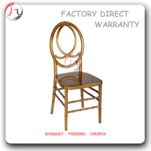 Metal Golden Painting Wedding Banqueting Dining Phoenix Chair (AT-184) pictures & photos